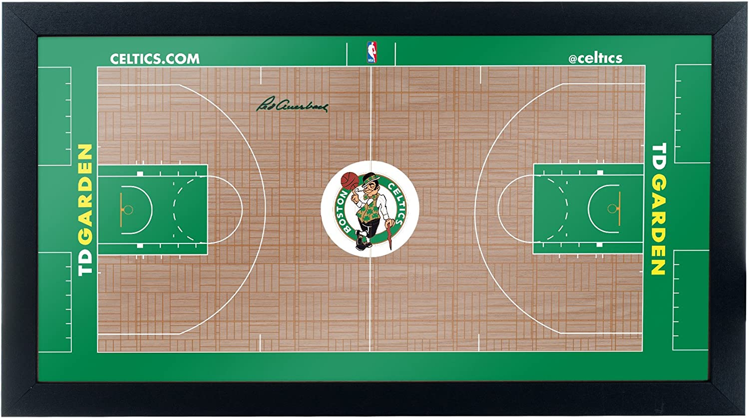 Trademark Gameroom Boston Celtics Official NBA Court Framed Plaque
