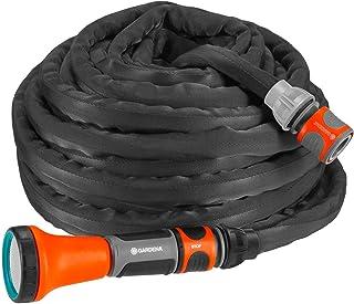 Gardena, Liano, slang, zwart, antraciet, oranje 15 m. 15 m + lance standaard
