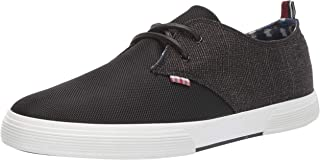 حذاء رياضي برباط للرجال من Ben Sherman، أسود قطن/ نايلون