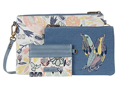 Sakroots Artist Circle Adventure Triple Pouch (Multi Peace Birds) Handbags