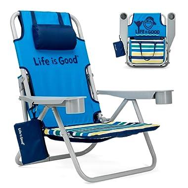Life is Good Jake Blue Beach Chair, Short