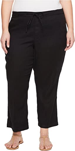 NYDJ Plus Size - Plue Size Drawstring Ankle Pants in Black