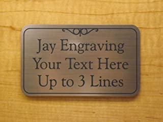 Brushed Copper Finish 3x5 Office Suite Sign   Name Plate   Wall or Door Plaque   Adhesive Backed Business Home Office Receptionist Unit Condo Apartment Restroom Laundry Closet Employees Only Signs