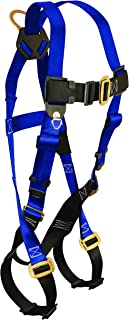 FallTech 7015 Contractor Full Body Harness with 1 D-Ring and Mating Buckle Leg Straps, Universal Fit