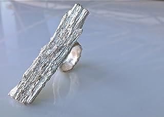 ARA Anello scultura in argento 999