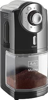 Melitta Molinillo de café eléctrico, Molino, Disco plano, Negro, 1019-02