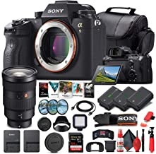 Sony Alpha a9 Mirrorless Digital Camera (Body Only) (ILCE9/B) + Sony FE 24-70mm Lens + 64GB Memory Card + 2 x NP-FZ-100 Ba...