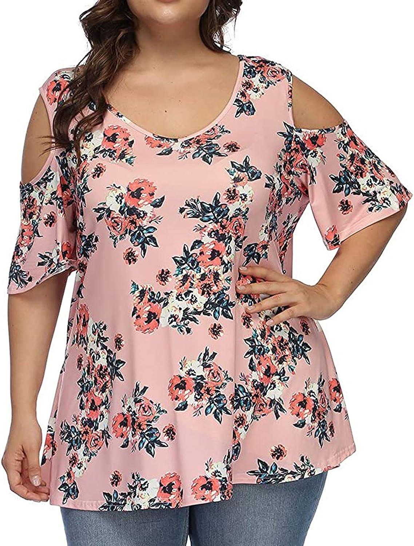 Womens Summer Cheap sale Austin Mall Tops Plus Size Women's Neck Ru Tunic V Henley
