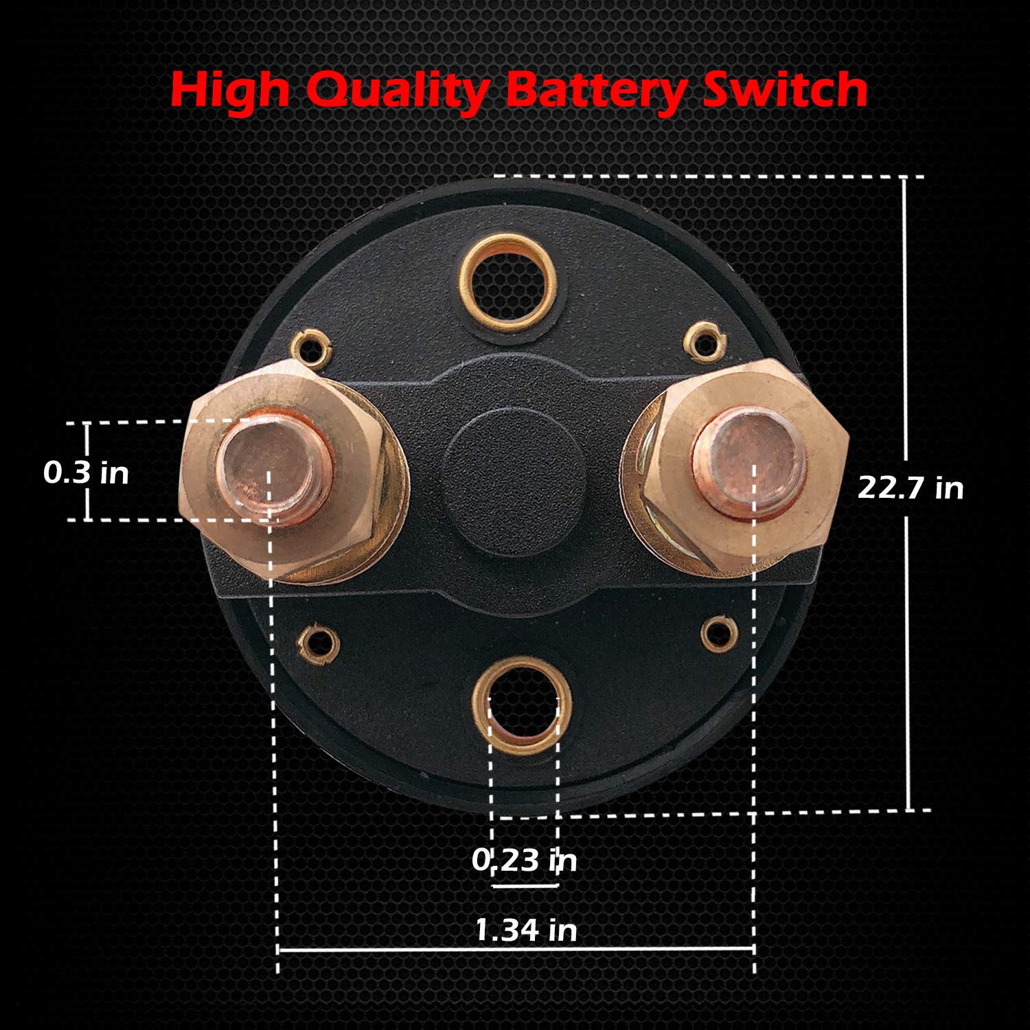 Minimprover Battery Master Disconnect Switch Battery Cut off Rotary Power Switch Battery Exhaustion Prevention General-purpose Battery Easy to Install B Terminal D Terminal Switch 2-piece Set