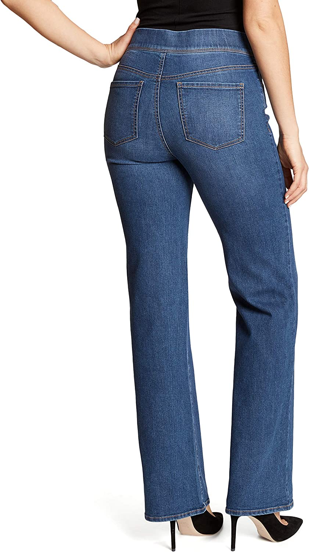 Gloria Vanderbilt Womens High Rise Pull on Boot Cut Jean