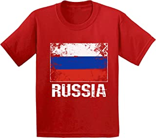 Awkward Styles Youth Russia Shirt Russian Flag Shirts Kids Russian Soccer Fan