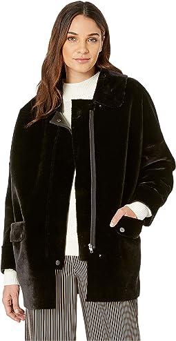 Lindsay Faux Sherpa Coat