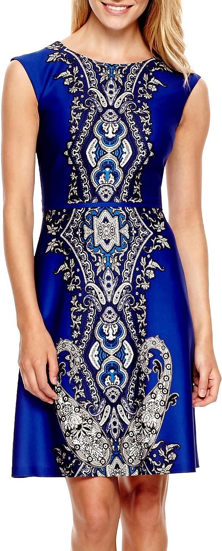 Sandra Darren Women's Cap Sleeve Printed Aline Dress