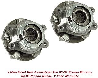 DTA Front Wheel Bearing & Hub Assemblies NT513310 x2 (Pair) Brand New Fit Nissan Murano Quest