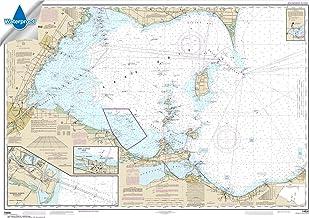 NOAA Chart 14830: West End of Lake Erie; Port Clinton Harbor; Monroe Harbor 33.7 x 48.3 (Waterproof)