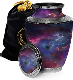 Interstellar Nebula Cremation Urns for Human Ashes Adult for Funeral, Burial, Columbarium or Home, Cremation Urns for Human Ashes Adult 200 Cubic Inches, Urns for Ashes, Adult/Large