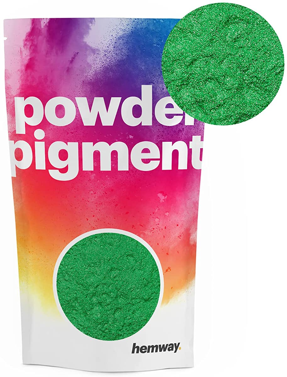 Hemway Pigment Powder Colour Luxury Ultra-Sparkle Dye Metallic Pigments for Epoxy Resin, Polyurethane Paint (Metallic Apple Green, 50g / 1.75oz)
