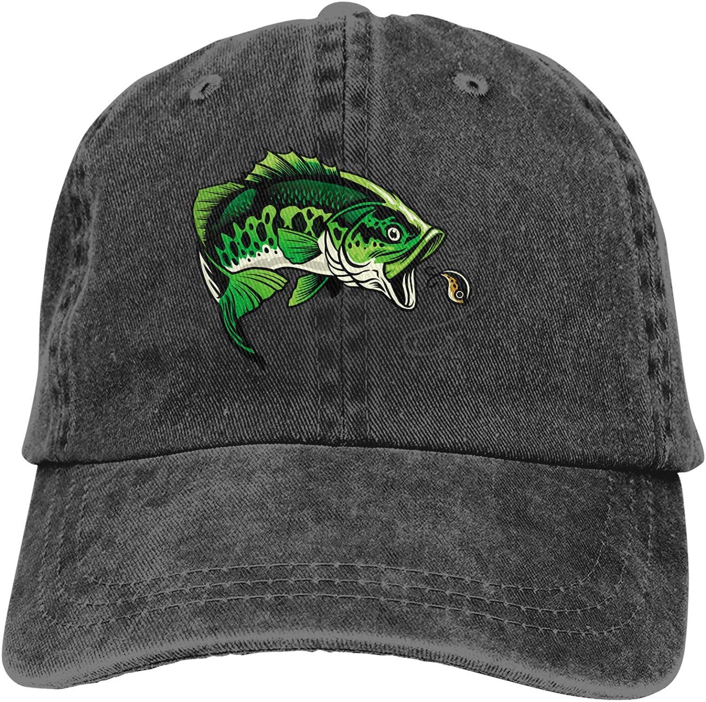 Ruoruo Bass Baltimore Mall Fishing Washed Baseball Unisex Cap Hat 55% OFF Trucker Adult