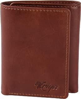 KRIYA Tri-fold Wildwest Tan Leather Wallet