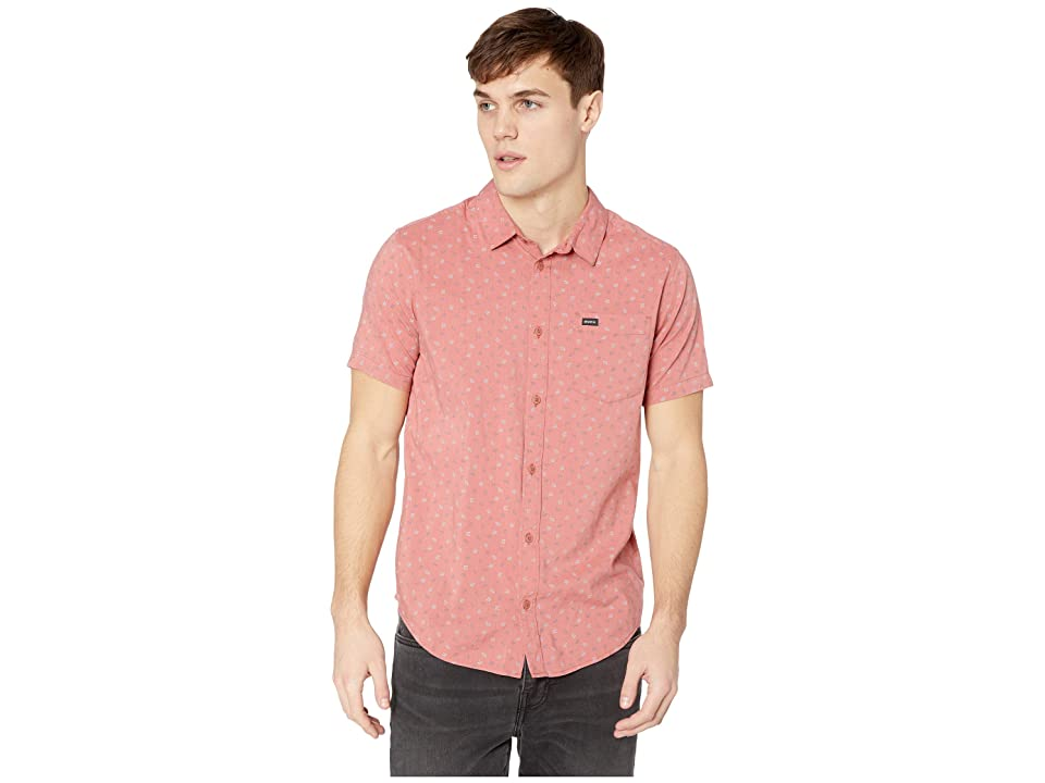 RVCA Jah VA Short Sleeve (Chai) Men's Clothing, Brown