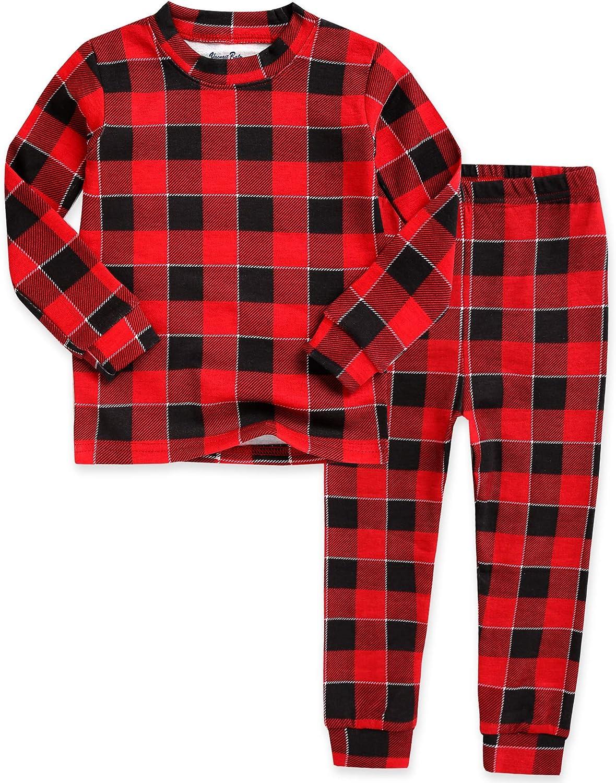 VAENAIT BABY Toddler Kids Junior Girls Boys Soft Modal Tencel Sleepwear Pjs 2pcs Set