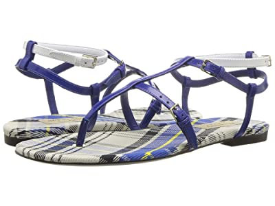 Burberry Vintage Check and Leather Sandals (Purple/Blue) Women