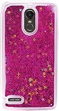 Girl Glitter Liquid Case for LG Stylo 3 2017 LS775 4 Plus Aristo 2 X210 K10 2018 Cover Shiny Sequin Bling Phone Cases,Red,for LG Stylo 2