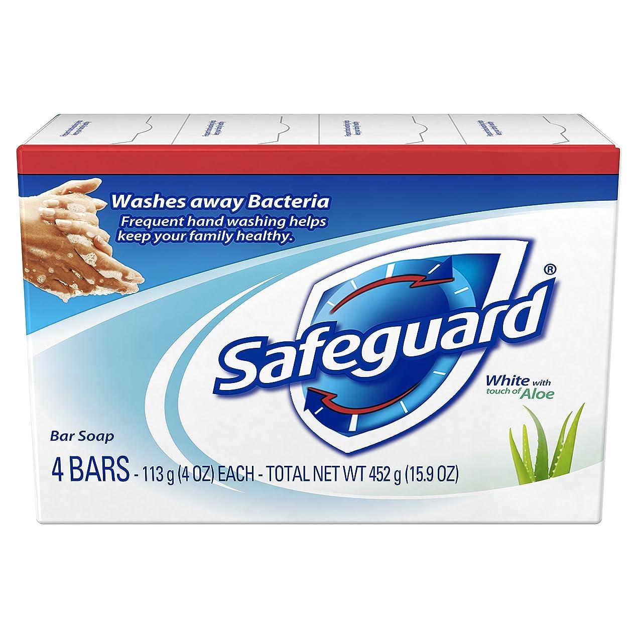 土地電極図Safeguard アロエ4オズバー、4EA(5パック)で抗菌消臭石鹸ホワイト 5パック