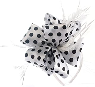 Myjoyday Fascinator Hats for Women Tea Party Wedding Headband Feather Cocktail Headwear Hair Clip for Girls