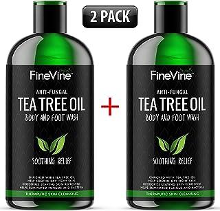 100% Natural Tea Tree Body Wash  Organic Tea Tree Oil Body Wash Made in USA  Cleansing Body Wash Fights off Jock Itch & Nail Fungus  Antifungal Body Wash Treats Athletes Foot, Ec-zema, Ring Worm, Odor
