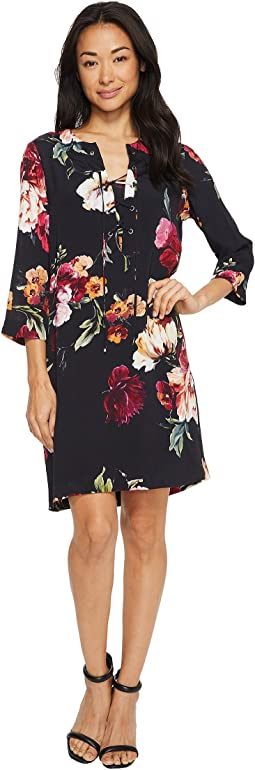 Karen Kane - Floral Lace-Up Dress