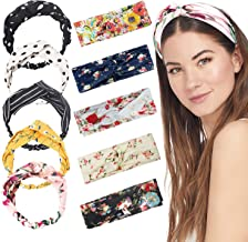 10 Pieces Women Head Band,Girls Headwraps Hair Bands, Boho Headbands for Women,Bohemian Floral Style, Vintage Flower Printed Elastic Head Wrap Twisted Hair Accessories