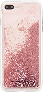 Case-Mate - iPhone 7 Plus Case - Waterfall - Cascading Liquid Glitter - for iPhone 7 Plus / 6s Plus / 6 Plus - Rose Gold