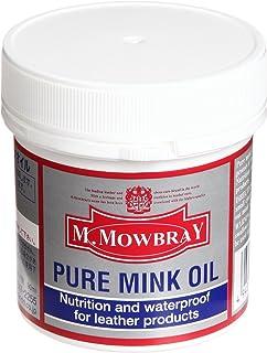 [M.モゥブレィ] オイルドレザー ワークブーツケア 栄養・保革・防水オイル ピュアミンクオイル