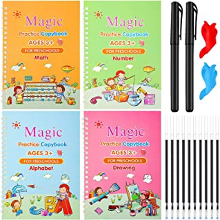 Magic Practice Copybook for Kids, Handwriting Practice Books for Kids, Reusable Practical Calligraphy Books, Cursive Writi...