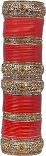 Sukriti Indian Gorgeous Traditional Fashion Bollywood Style Bridal Punjabi Chura Bangle Jewelry for Women