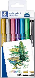 STAEDTLER 8323-SWP6P Metallic Markers - Multi-Colour (Pack of 6)