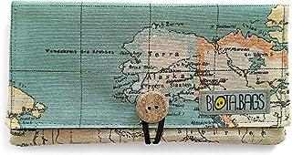 Tabaktasche - Tabakbeutel - Tasche für Drehtabak - handgefertigtes Etui - aus Stoff - Weltkarte