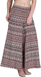 Fraulein Women's/Girls Palazzos Red Panel Crepe Flared Bottom Trendy and Stylish Palazzos with One Pocket and Mesh Inner L...