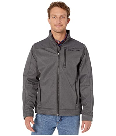 Cinch Textured Bonded Jacket (Heather Grey) Men