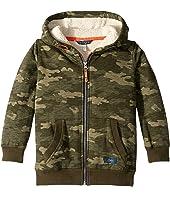 Sherpa Lined Zip Through Hooded Sweatshirt (Toddler/Little Kids/Big Kids)