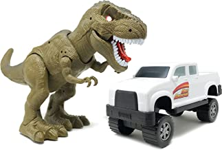 Boley Walking T-Rex Dinosaur Playset - Tyrannosaurus Rex Figure with Ferocious Roaring Lights and Sounds Action - Perfect Dinosaur Lovers Set for Kids, Children, Toddlers!