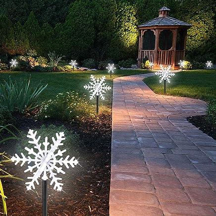 Lampe Jardin 42 LED Décorative Flacon De Neige Lumières De Paysage à Piquet  Eclairage Intérieur/