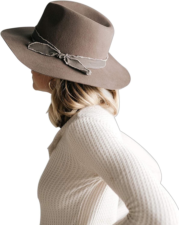 Gigi Pip Hannah Crushable Floppy Manufacturer OFFicial shop Brim for Fedora 55% OFF Women Felt Hat