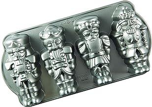 Nordic Ware Nutcracker Sweets Cast Cakelet Pan, 6 Cup Capacity, Silver