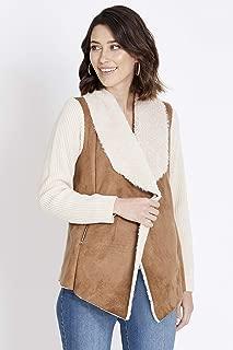 Rockmans Long Sleeve Shearling Knit Jacket Honey 14 - Womens