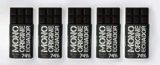 Beppiani – Tabletas de Chocolate Negro Extra, 74% ORIGEN ECUADOR, Chocolate Artesanal – 500 g –Set de 5 Tabletas – MADE IN ITALY