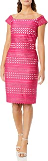 Eliza J womens Laser Cut Off-the-Shoulder Dress Casual Dress