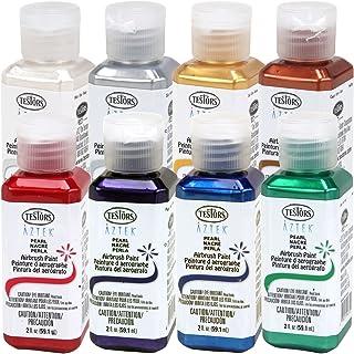 TESTORS - AZTEK Premium PEARL Acrylic Airbrush Paint 8-Color Set & FREE How to