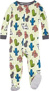 Lamaze - Ropa de Dormir de una Pieza elástica orgánica, para bebés y niños, con pies, Cierre, Cactus, 12 Meses